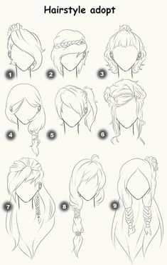 Pinterest - Hairstyle drawing tumblr
