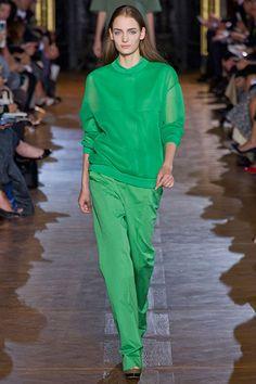 Stella McCartney Color Trend - Runway Spring Fashion Trends 2013 - Harper's BAZAAR  Monochromatic in emerald sheen