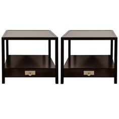 A Pair of Michael Taylor End Tables | From a unique collection of antique and modern end tables at http://www.1stdibs.com/furniture/tables/end-tables/