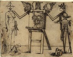 Giovanni Battista Braccelli: Bizzarie di varie figure ... 1624. Plate 4: two figures by an easel