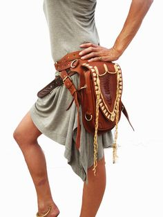 Leather holster leather utility belt festival belt by Soulindha, $319.00
