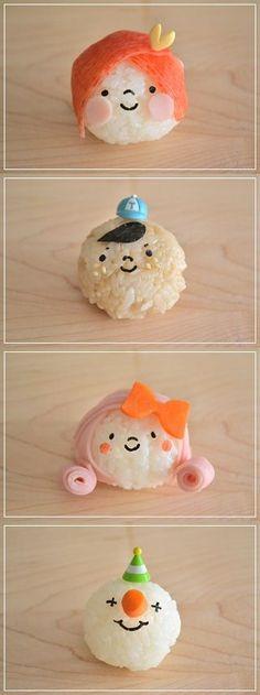 Onigiri, Japanese Rice Balls for Kids' Bento Lunch Box