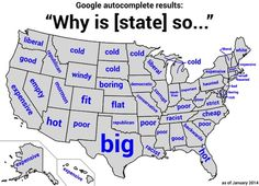 Google auto complete about your state. So What does America think of your state?