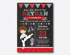 Karate Invitation Karate Party Invitations Karate by ThePartyStork