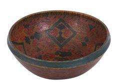 Telemark bowl painted by Talleiv Halvorsen.