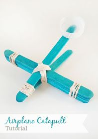 DIY popsicle stick airplane catapult