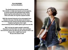 """""""To A Passerby""""  by Charles Baudelaire"""