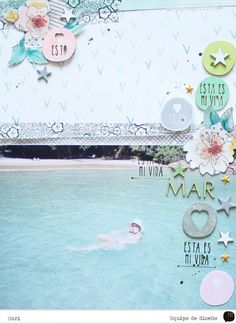 Papercrafting ideas: scrapbook layout idea. #papercraft #scrapbooking #layouts. Mar by cariilup at @studio_calico