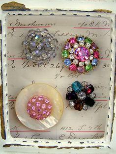 Vintage Jeweled Magnet Set 9