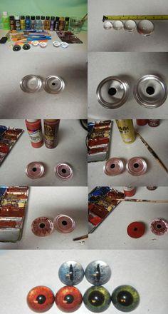 Acrylic eye tutorial by DrakonicKnight on DeviantArt Fursuit Tutorial, Eye Tutorial, Doll Tutorial, Sculpting Tutorials, Doll Making Tutorials, Cosplay Tutorial, Cosplay Diy, Costume Tutorial, Craft Eyes