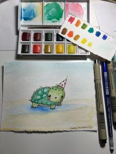 Watercolor doodle.