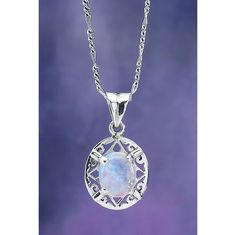 Rainbow Moonstone Filigree Pendant - New Age, Spiritual Gifts, Yoga, Wicca, Gothic, Reiki, Celtic, Crystal, Tarot at Pyramid Collection