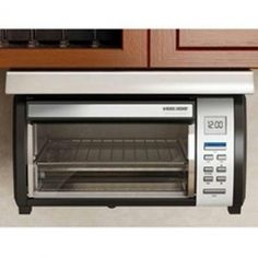 B&D 4 Slice Toaster Oven, Black & Decker Spacemaker Plus Toaster Oven.Enjoy the versatility of having all the functions you need in one oven, including Bake, Toast and Keep Warm cooking options. Elegant black with stainless . Under Counter Toaster Oven, Toaster Ovens, Countertop Oven, Countertops, Appliance Sale, Cord Storage, Specialty Appliances
