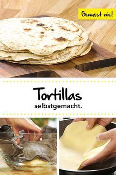 Schaue dir hier an, wie man Tortillas selbst herstellen kann. 🙂 Check out how to make tortillas yourself. All Recipes Apple Crisp, All Recipes Banana Bread, All Recipes Cookies, All Recipes Pancakes, Apple Recipes, Quick Healthy Snacks, Healthy Summer Recipes, Healthy Dessert Recipes, Summer Desserts