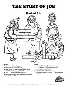 The Story of Job Printable Crossword Puzzles: Your kids will love these story of Job printable crossword puzzles. These high quality printable Sunday school activities are a great teaching tool and perfect for reinforcing your book of Job Bible lesson. Bible Activities For Kids, Bible Stories For Kids, Bible Story Crafts, Bible Crafts For Kids, Bible Lessons For Kids, Kids Bible, Bible Games, Children's Bible, Primary Lessons
