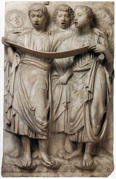 Luca della Robbia, Cantoria: right side relief 1431/ 1438 Marble, 96 x 61 cm Museo dell'Opera del Duomo, Florence