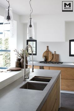 Home Decor Kitchen, Kitchen Interior, New Kitchen, Kitchen Grey, Kitchen Sink, Kitchen Wood, Kitchen Island, Kitchen Modern, Kitchen Worktops