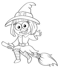 Free printable Halloween coloring pages for use in your classroom and home from PrimaryGames. coloriage halloween à imprimer Cute Halloween Coloring Pages, Witch Coloring Pages, Pattern Coloring Pages, Disney Coloring Pages, Coloring Books, Easy Halloween Crafts, Halloween Clipart, Halloween Drawings, Halloween Pictures