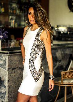 Look para balada com vestido branco