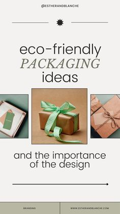 Taking on an eco-mindset and translating it into your packaging design is good for your brand thanks to the growing number of consumers (particularly millennials) who have a big concern for the environment. So here are some eco-friendly packaging ideas for your business! #sustainabledesign #sustainablebrands #sustainablebrand #ethicalbranding #ethicalbrands #sustainableinteriordesign #consciousdesign #ecodesign #ecofriendlyliving #ecoliving #ecopackaging #ecographicdesign #greenpackaging