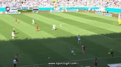 Argentina Goalie Sergio Romero makes an incredible save off a header in the 2014 World Cup