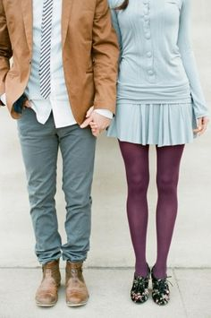 Baby Blue and Plum Fashion | photography by thismodernromance...