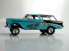 56 Chevy Gasser | 56 Chevy Nomad Gasser Drag Car Hot Rod Slot Car 1 25