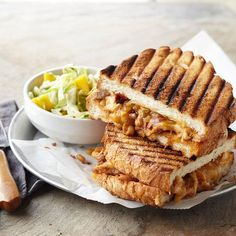 With Tex-Mex flavors of spice and chile, a slightly sweet mango slaw, and warm grilled bread, this chicken panini is a surefire hit: http://www.bhg.com/recipes/sandwiches/grilled-sandwich-recipes/?socsrc=bhgpin022514southwesternchickenpanini