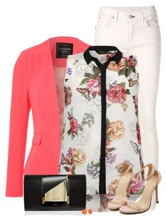 """""""Bright Blazer"""" by daiscat ❤ liked on Polyvore featuring rag & bone/JEAN, Jane Norman, Perrin and Kate Spade"""