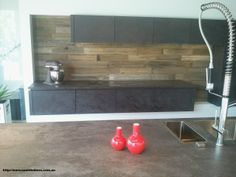 Nash Timbers Recycled Splash Back Sourced from Fence Post