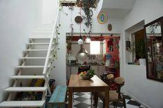 Patio Interior, Interior Design, Menorca, Basements, Furniture Decor, Ladder Decor, Sweet Home, New Homes, Houses