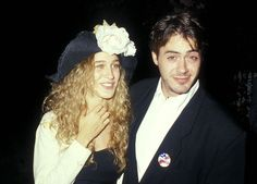 He obviously loved her enough to let her wear this hat: | Sarah Jessica Parker And Robert Downey Jr. Were The It Couple Of The '80s