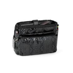VIP LIMITED EDITION PYTHON NOIR - Summer 2012 collection. The original bag in bag. €45 #tintamar #vip #bagorganizer #baginbag #pouch