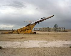"A monument in an abandoned Soviet military base in Mongolia. "" Fighter Aviation Regiment, Mongolia: During the this base was seen as the front line for potential conflict. Abandoned Buildings, Abandoned Places, Abandoned Ships, Abandoned Cars, Mig 21, Dead Space, Rest Of The World, Art World, Fighter Jets"