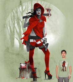 Estampa 'Quem Tem Medo de Lobo Mau?' no Camiseteria.com. Autoria de rodisley jose da silva http://cami.st/d/59218