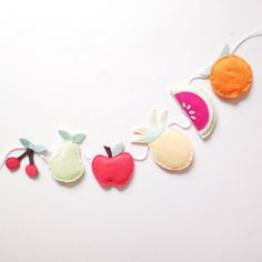 A fruit garland / bunting by Thesecretcrafthouse on Etsy