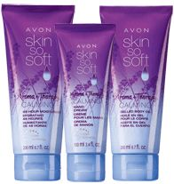 SKIN SO SOFT Aroma + Therapy 3-Piece Calming Collection - Keep Calm with Avon shop www.youravon.com/carolnegron