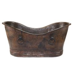 """Premier Copper Products 67"""" x 34"""" Hammered Copper Double Whirlpool Bathtub & Reviews 
