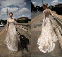 2016 Full Lace Wedding Dresses Sheer Neck Long Sleeves Backless Wedding Gowns Alessandra Rinaudo New Spring Summer Appliques Bridal Dress Lace Wedding Dresses Vintage Latest Gowns From Angelia0223, $224.3  Dhgate.Com