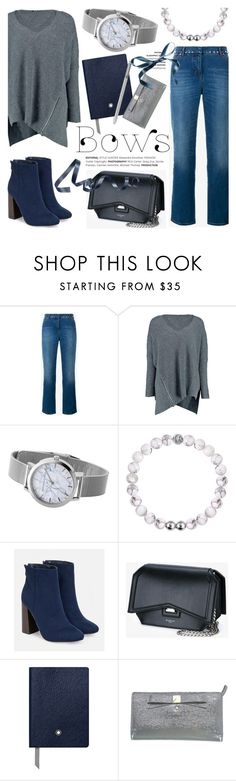 """""""Put a bow on it!"""" by christianpaul ❤ liked on Polyvore featuring Valentino, Boohoo, JustFab, Givenchy, Montblanc, Kate Spade, bows, contestentry and christianpaulwatches"""