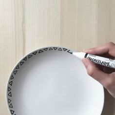 DIY Hand Painted Plates