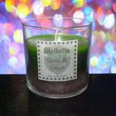 These Harry Potter Scented Candles Capture The Essences Of The Books& Most Popular Characters. Hogwarts Crest, Slytherin, Scented Candles, Candle Jars, Harry Potter Candles, Harry Potter Christmas, Day Plan, Burning Candle, Etiquette