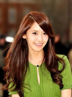 Yoona. Her hair is so soft, luscious and shiny!