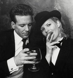 Kim Basinger and Micky Rourke #cigars