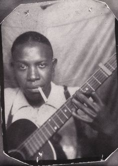 Robert Johnson (1911 - 1938).  His landmark recordings from 1936–37 display a combination of singing, guitar skills, and songwriting talent that has influenced later generations of musicians. Johnson's shadowy, poorly documented life and death at age 27 have given rise to much legend, including the Faustian myth that he sold his soul at a crossroads to achieve success.
