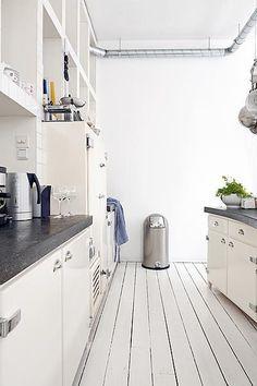 Industrial white kitchen