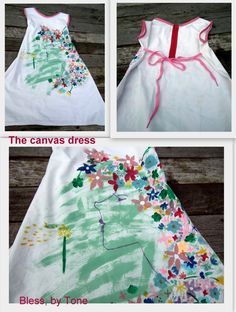 Bless: The Canvas Dress, hand painted dress Hand Painted Dress, Crafty, Canvas, Dresses, Fashion, Tela, Vestidos, Moda, Fasion