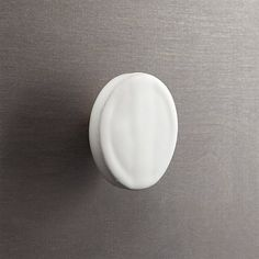 tempe white disk drawer pull | CB2