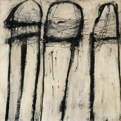 Cy Twombly, Untitled, 1953, Oil based house paint, wax and pencil on canvas, 52 1/8 x 52 1/8 inches. Robert Rauschenberg Foundation
