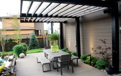 Ultra Modern and Architecturally Stunning Backyard - Northfield Stapleton - Mile High Landscaping